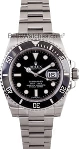 Mens Rolex Black Ceramic Submariner 116610