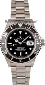 Rolex Submariner 16610 No Holes Case Mint