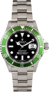 Pre-owned Rolex Men's Oyster Perpetual Submariner Watch (40mm Rolex Steel Oyster Perpetual Submariner) 16610LV