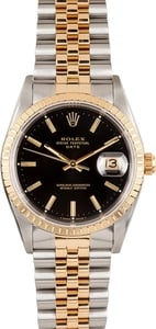 Men's Rolex Oyster Perpetual Date Stainless Steel and Gold 15223