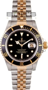 Men's Pre-Owned Rolex Submariner Two Tone Transitional 16803