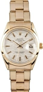 Vintage Rolex Date Yellow Gold 1550 Oyster