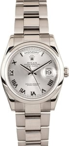 Rolex Mens Presidential 118209 White Gold