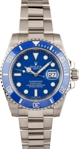 Rolex Submariner 116619 'Smurf' White Gold Oyster