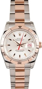 Pre Owned Men's Rolex Stainless and Rose Gold DateJust 116261