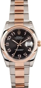 Men's Used Rolex DateJust Watch Rose Gold 116201