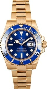 Solid Gold Rolex Submariner 116618