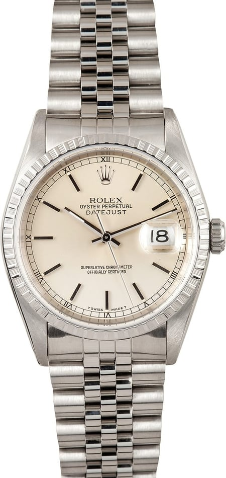 Rolex Datejust 16220 Silver Dial, B&P, 1997