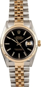 Men's Pre-Owned Rolex Oyster Perpetual DateJust Stainless Steel and Gold 16013