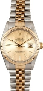Rolex Oyster Perpetual DateJust Stainless Steel and Gold 16013