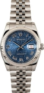 Rolex DateJust 116234 Blue Dial