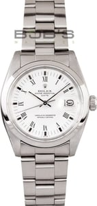 Used Rolex Date Stainless Steel With Silver Dial 1500