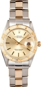 Vintage Rolex Thunderbird DateJust Stainless Steel and Gold