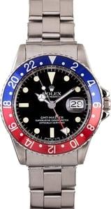 Vintage Rolex GMT 1675 Pepsi