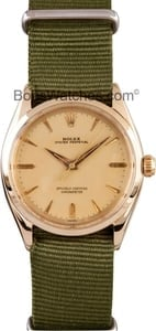 Rolex Vintage Oyster Perpetual Men's Steel Watch 6564