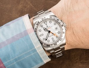 Rolex Explorer II 216570 White 100% Authentic