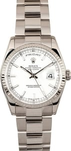 Rolex White Gold Presidential 118209