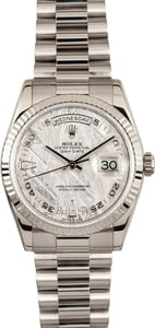 White Gold Rolex President Meteorite Dial 118239