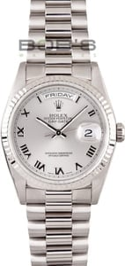 Mens Rolex President 18k White Gold 18239
