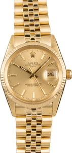 Pre-Owned Rolex Date 15037 Yellow Gold
