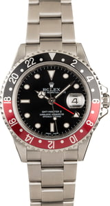 Pre-Owned Rolex 'Coke' GMT Master II Ref 16710 Black Dial