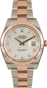 Factory Stickered Rolex Datejust 41 126331 Diamond MOP