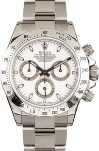 Certified Men's Rolex Daytona 116520 White Dial
