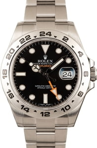 Rolex 42MM Explorer II Black Dial 216570