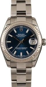 Pre-Owned Rolex 31MM Datejust 178274 Blue Dial