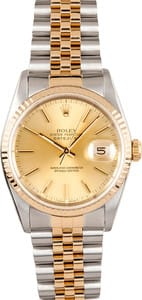 Men's Pre Owned Rolex Oyster Perpetual DateJust Stainless & Gold