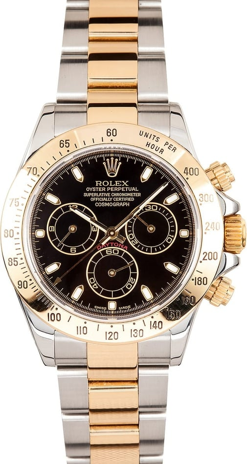 Mens Two Tone Rolex Daytona 116523