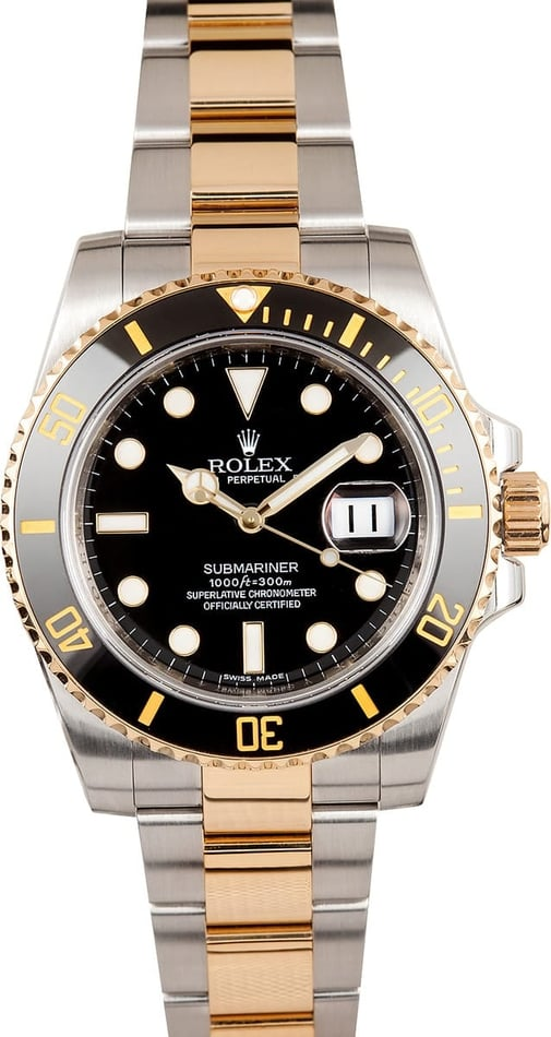 Rolex Two Tone Submariner 116613