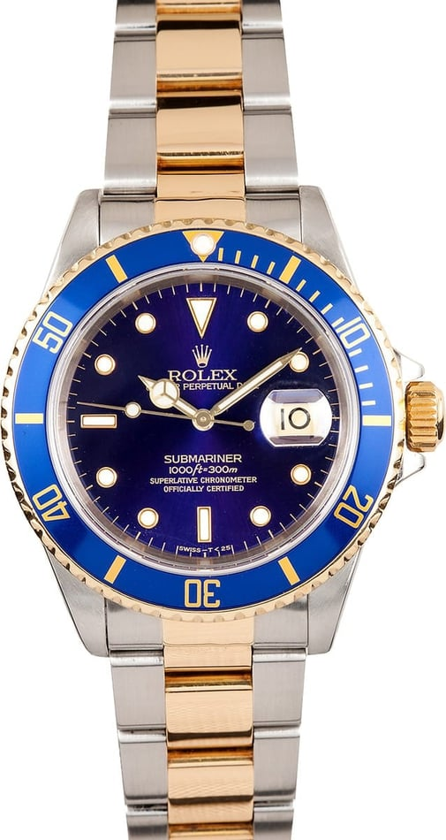 Men's Rolex Submariner Steel & 18K 16613