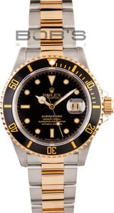 Men's Used Rolex Submariner Two Tone 16613
