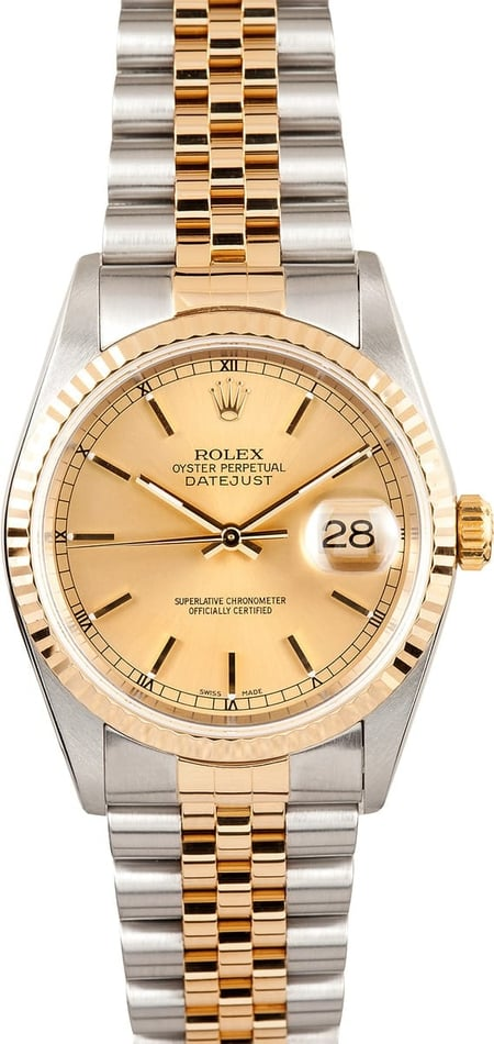 Rolex Two tone DateJust Men's 16233