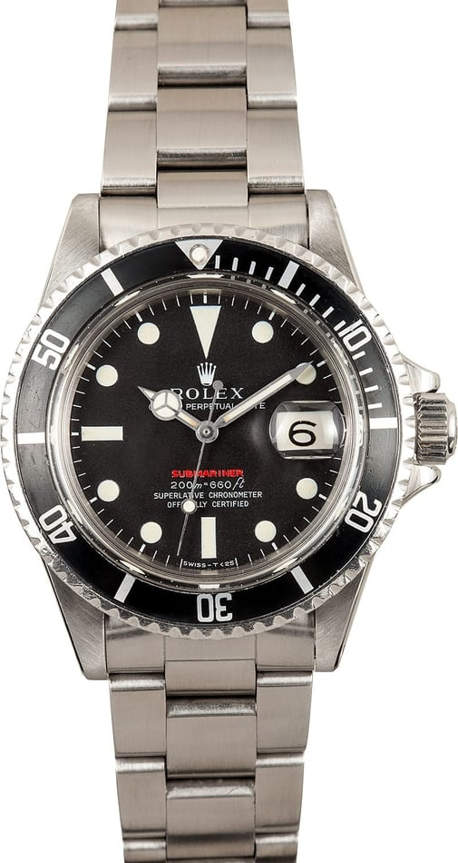 Vintage Rolex Red Letter Submariner 1680