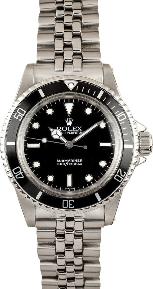 Vintage Rolex Submariner 5513 Black