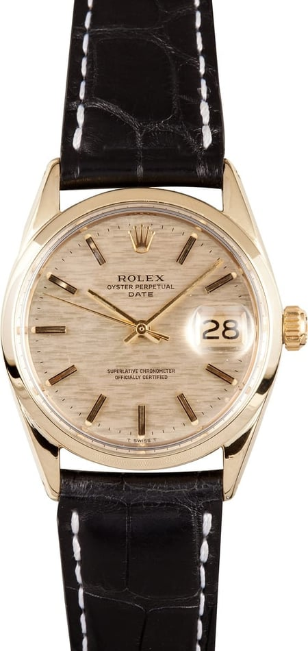 Vintage Rolex Date Yellow Gold 1550
