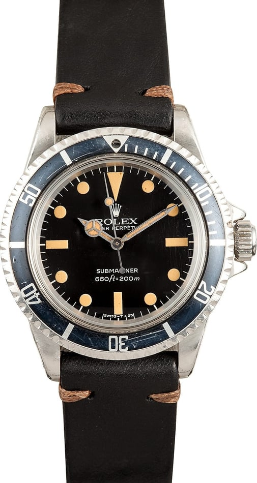 Vintage Rolex Submariner 5513 Leather