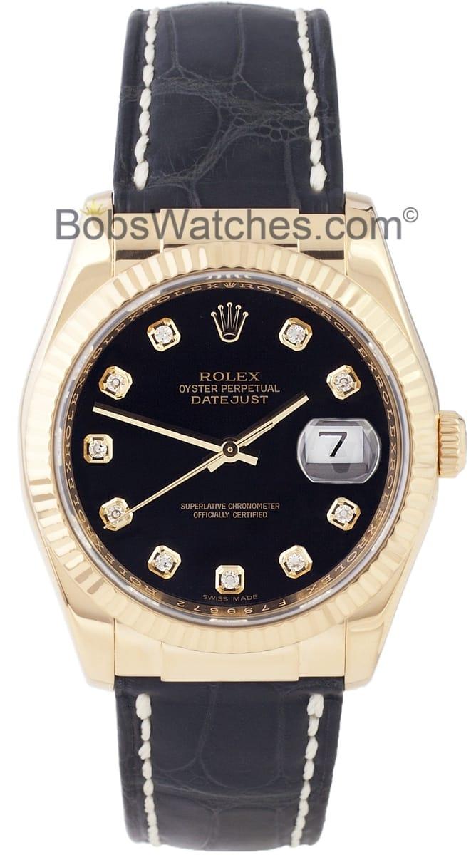 Rolex DateJust Black Diamond Dial 116138 - Save $1,000