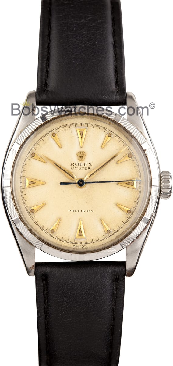 Certified Pre Owned >> Vintage Rolex Oyster Champagne Dial 1950s 6223 Low Prices ...
