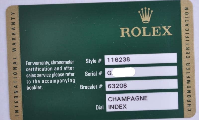 Rolex Warranty Cards Information Bob S Watches