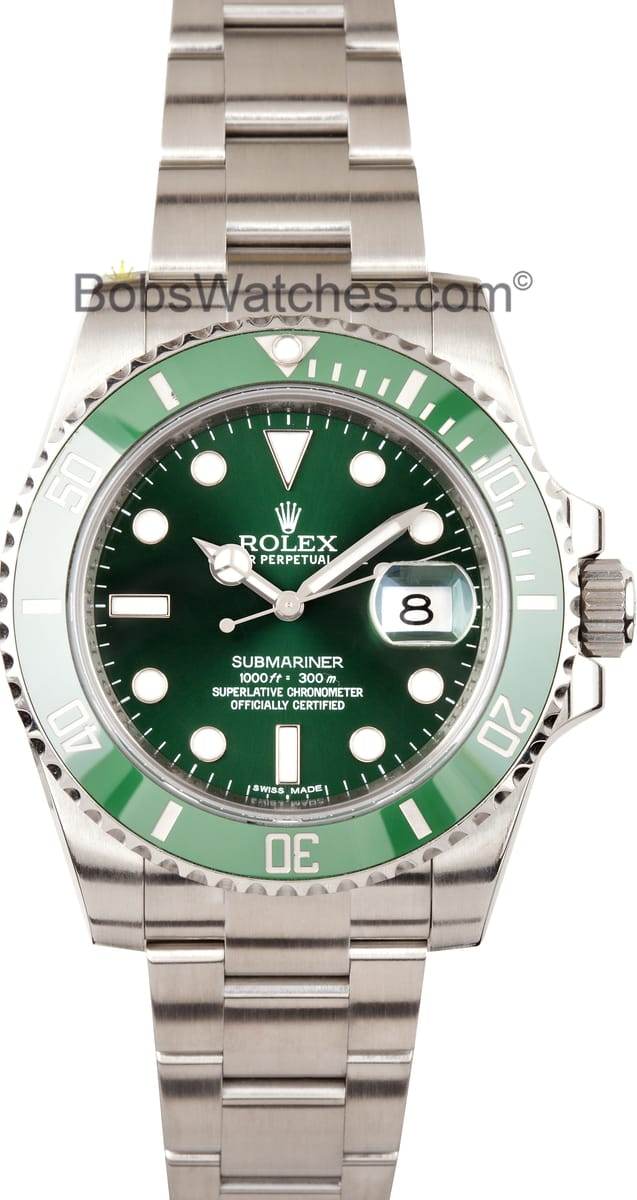 Green Rolex Submariner 116610 - Bob's Watches
