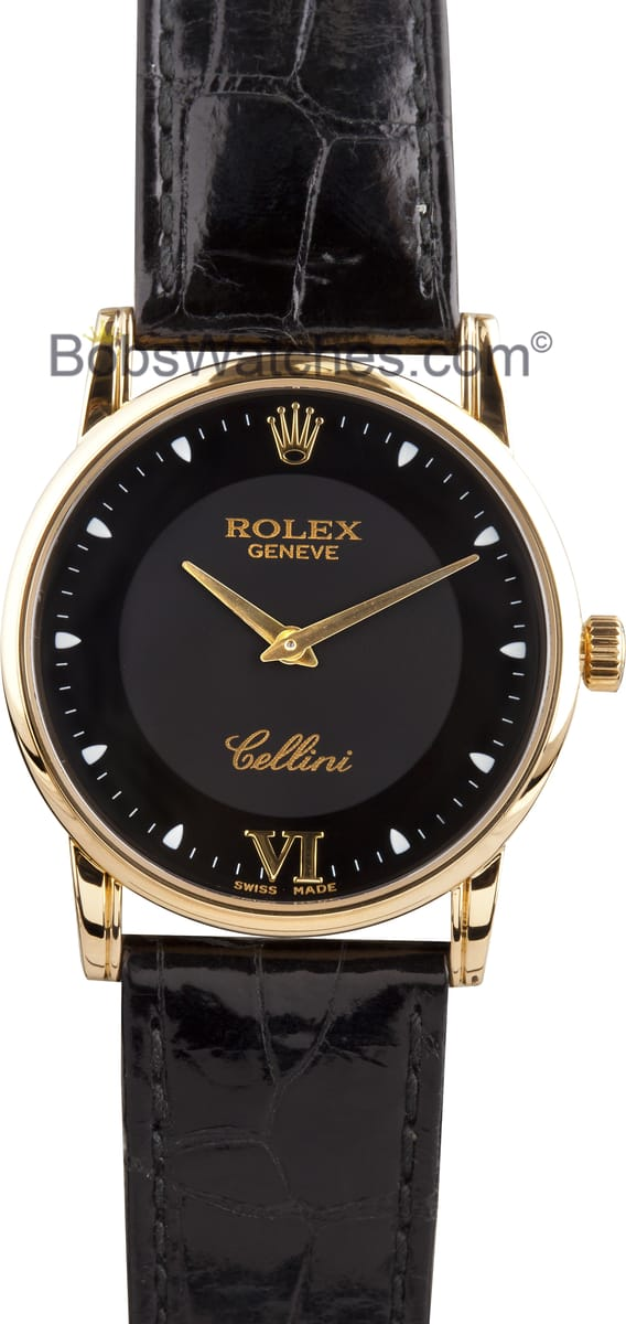 rolex cellini mens watch leather strap low price guarantee