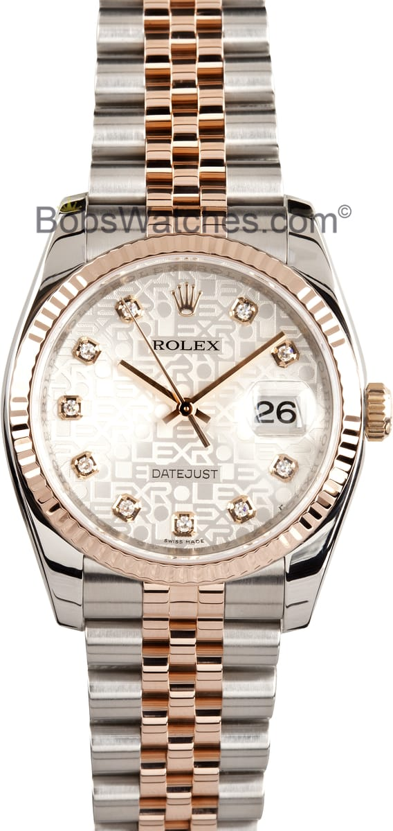 Rolex datejust mens 31 jewels automatic watch 116231wrj ships free for Rolex date just 31