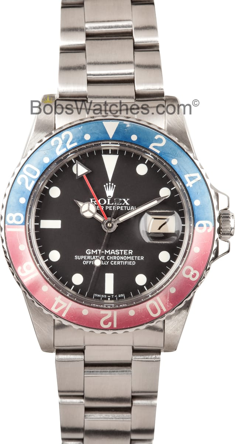 Vintage Rolex GMT,Master II Pepsi Bezel 16750 1