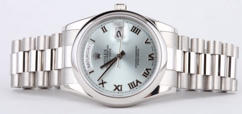 Rolex Day Date Platinum Used