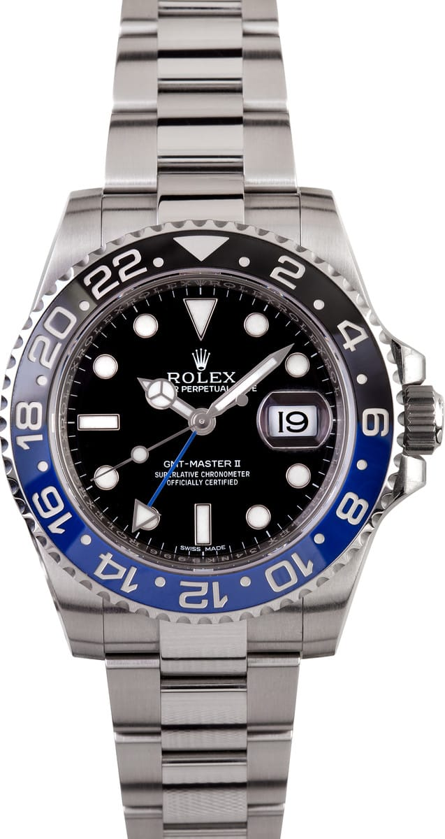 black and blue rolex gmt