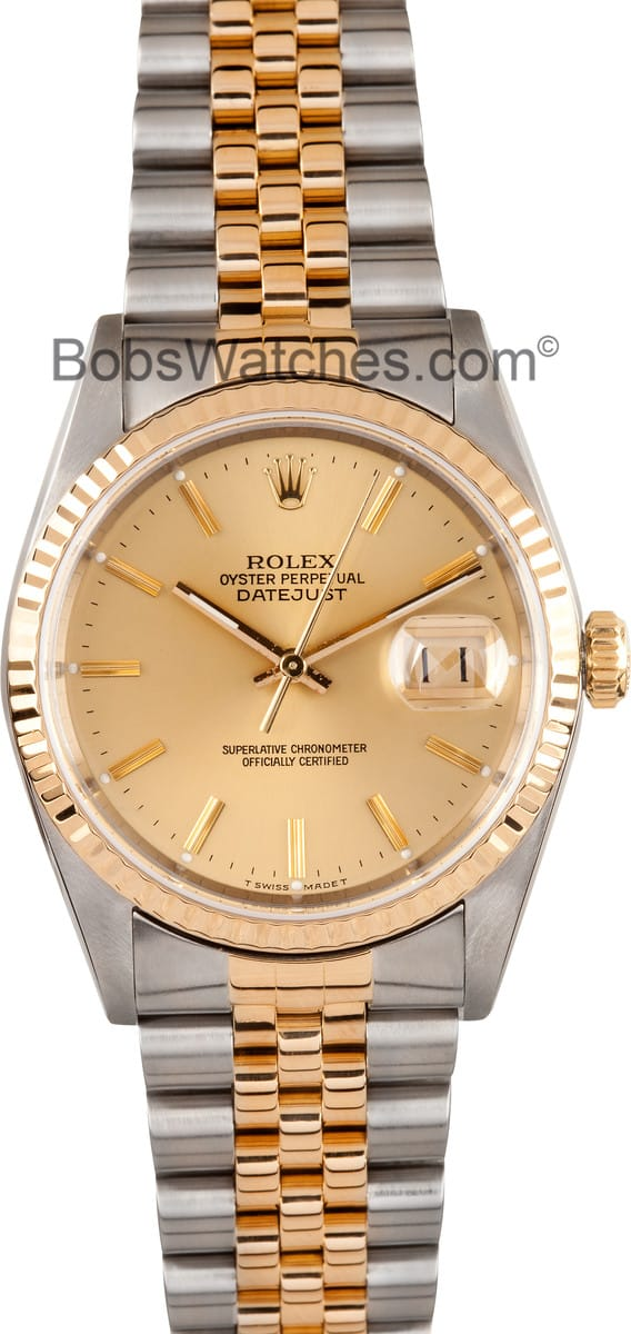 Rolex DateJust Oyster Perpetual Champagne Dial 01246e995331