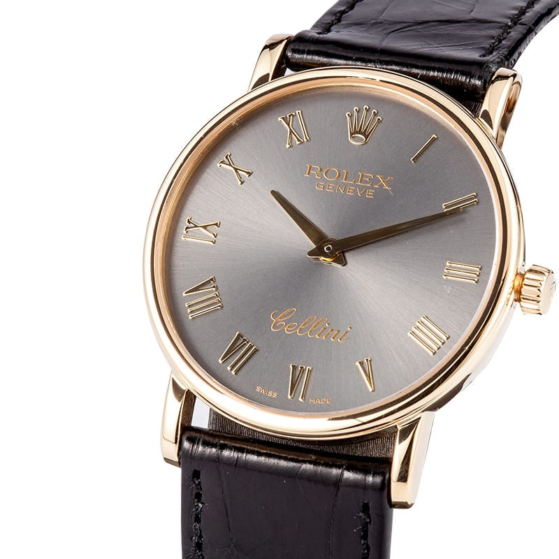 Rolex cellini men 39 s 18k yellow gold watch 5115 save at bob 39 s watches for Rolex cellini